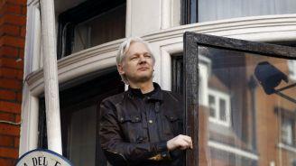 Assange en la Embajada de Ecuador en Londres