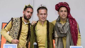 Quintana, González y Saldívar disfrazados como los Reyes Magos
