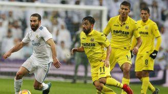 Carvajal controla el balón en el juego frente al Villarreal
