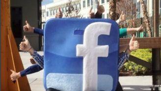 Logo de Facebook fue retratado en la calle como símbolo de que es una de las más utilizadas