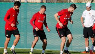 Jugadores del Spartak de Moscú durante un entrenamiento