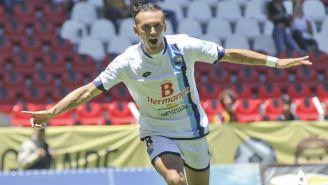 Omar Arellano festeja gol con Tampico Madero
