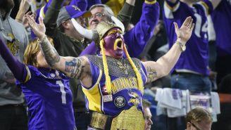 Aficionado de Vikings en el U.S. Bank Stadium