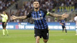 Icardi celebra una anotación con el Inter en la Serie A