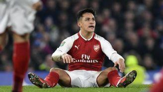 Alexis Sánchez, en un juego del Arsenal