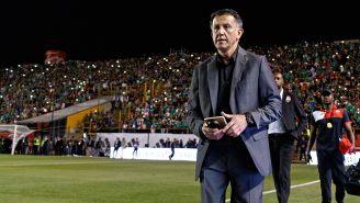 Juan Carlos Osorio, previo a un partido con el Tri