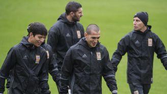 Damm, Torres Nilo y Gignac en entrenamiento de Tigres