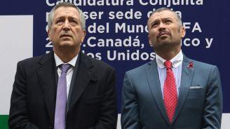 Vergara e Higuera, en la presentación de la sede mundialista