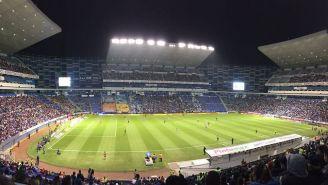 Así lucen las gradas en el juego de Puebla vs Chivas