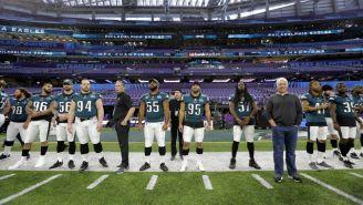 Eagles, durante un entrenamiento previo al Super Bowl LII