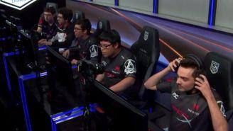Los jugadores de Infinity, tras vencer a Predators en la LLN