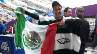 Aficionado mexicano en el Super Bowl LII