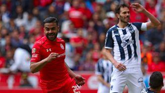 Canelo festeja su gol contra Monterrey en el C2018