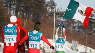 Germán Madrazo levanta bandera de México en  Pyeongchang