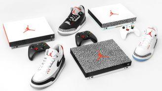 Las consolas Xbox One X con la imagen de Michael Jordan