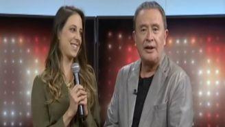 Sofía Niño de Rivera en un programa con Ricardo Rocha
