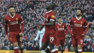 Sadio Mane festeja su anotación contra el West Ham