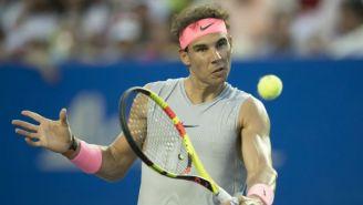 Rafael Nadal, en un entrenamiento del Abierto Mexicano de Tenis