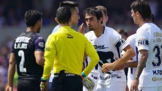 Arribas discute con el árbitro tras salir expulsado