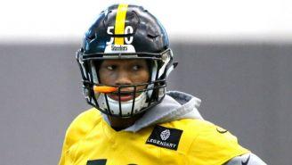 Shazier en un entrenamiento de Steelers