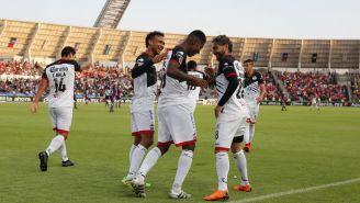 Lobos BUAP festeja gol contra Veracruz