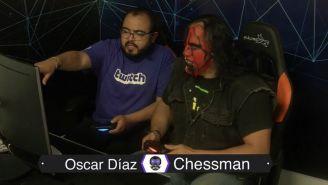 Chessman juega videojuegos con Oscar Díaz en Twitch