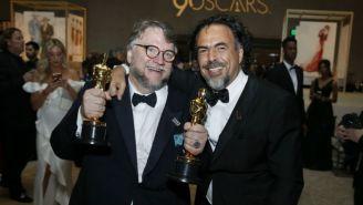Guillermo del Toro e Iñárritu, en la Governors Ball tras la ceremonia del Oscar