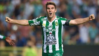 Boselli festeja su primer gol vs. Celaya en Copa