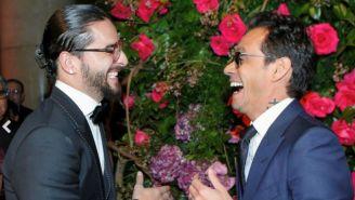 Marc Anthony y Maluma, durante gala benéfica