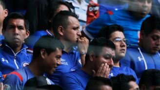 Aficionados de Cruz Azul, durante un partido