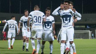 Pumas celebra anotación en CU en Octavos de Final de Copa MX