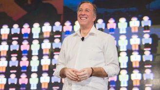 José Antonio Meade sonríe durante un evento