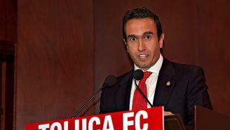 Francisco Suinaga, durante un evento del Toluca