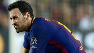 Busquets se lamenta tras su lesión frente al Chelsea