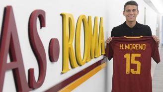 Moreno, en su presentación como jugador de la Roma