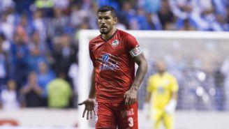 Maza Rodríguez, durante un juego con Lobos BUAP