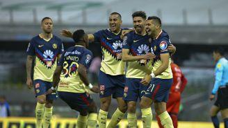 América festeja gol en la J5 contra Lobos BUAP