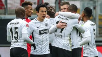 Kevin-Prince Boateng celebra su anotación con el equipo