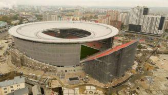 Ekaterimburgo Arena, vista desde el exterior