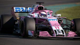 Checo recorre el circuito previo al GP de Australia