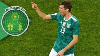 Müller celebra una anotación contra España en la Fecha FIFA
