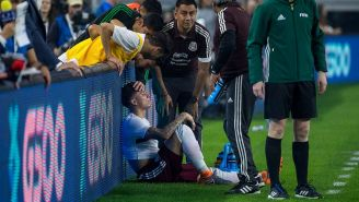 Salcedo se lamenta tras su lesión
