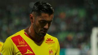Rodrigo Millar se lamenta en un partido del Morelia