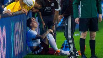 Carlos Salcedo tras su lesión en el partido vs Croacia
