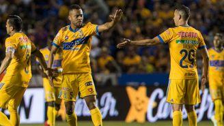 Carioca festeja su gol contra León