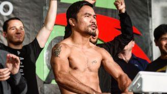 Manny Pacquiao, durante ceremonia de pesaje