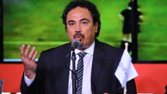 Hugol durante una conferencia en los premios de Marca