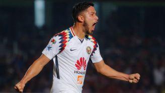 Valdez celebra un gol con las Águilas