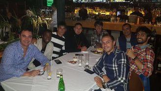 Mauro Formica celebra su cumpleaños con sus compañeros
