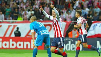 Conejo Brizuela festeja gol contra New York RB
